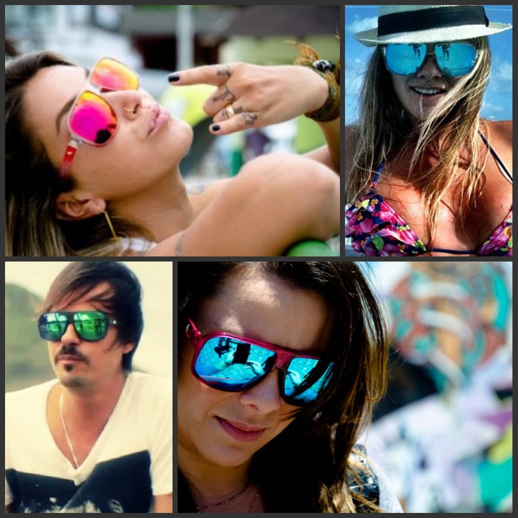 Patricinhas  uburbanas  Tá na moda - Óculos espelhado colorido 84d370e3df