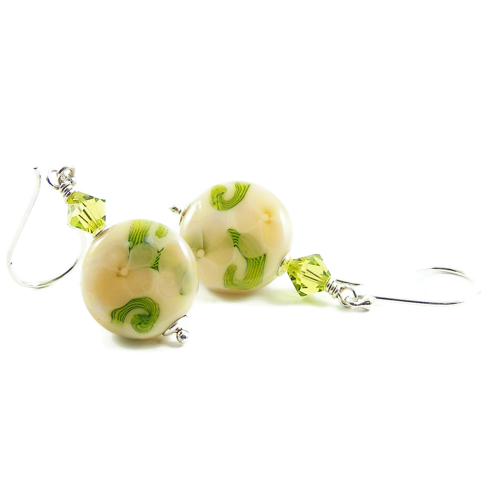 Cream Floral Earrings by Erika Price