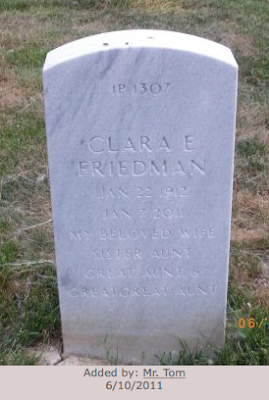 clara friedman grave stone jefferson barracks cemetary