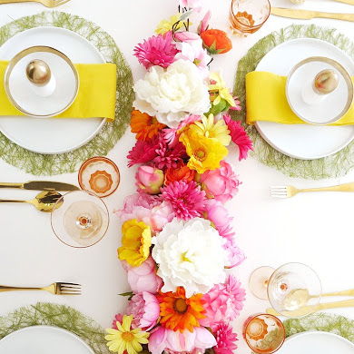 DIY Floral Table Runner