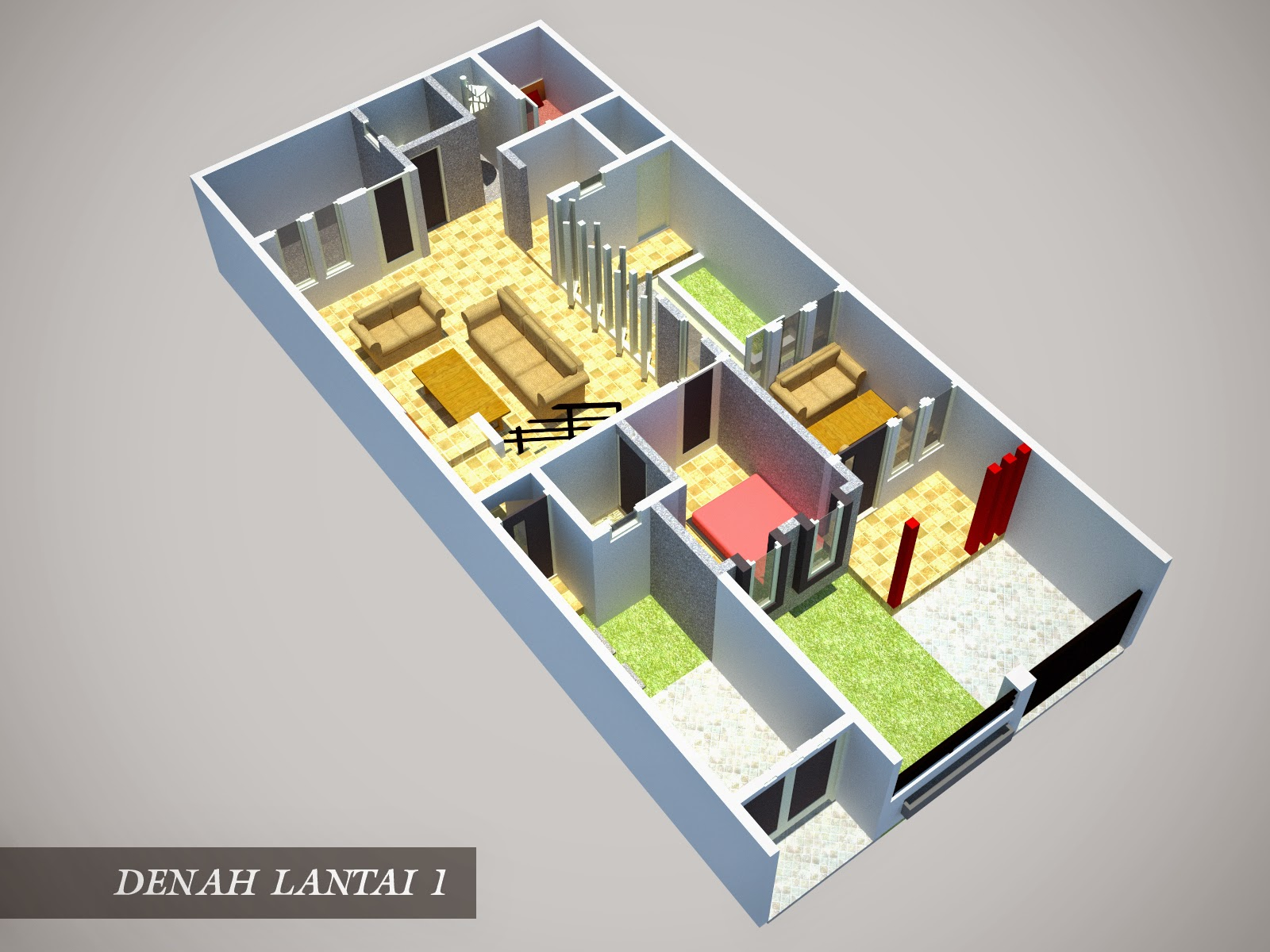 Desain Rumah Minimalis 1 Lantai Ukuran 6X15  Gambar Foto