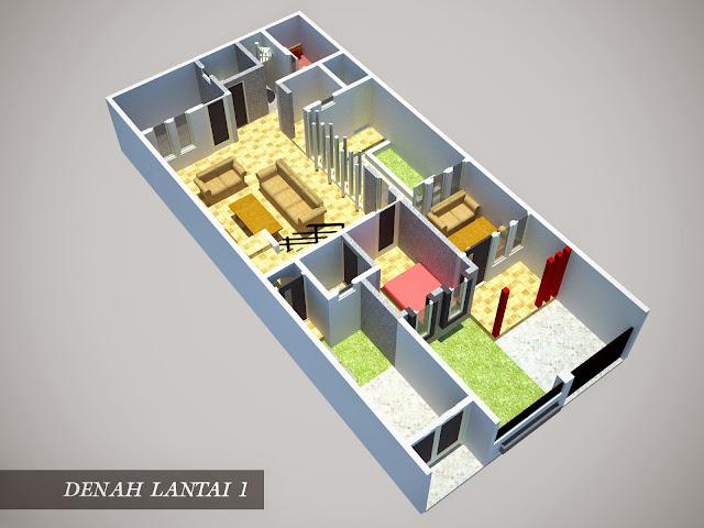Desain Rumah Minimalis 1 Lantai Ukuran 6X15 Gambar Foto Desain Rumah