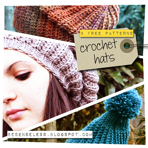 Crochet Hats 3 Free Patterns 1 Flou Airali