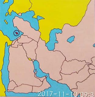 Gambar Peta letak Negara Cyprus