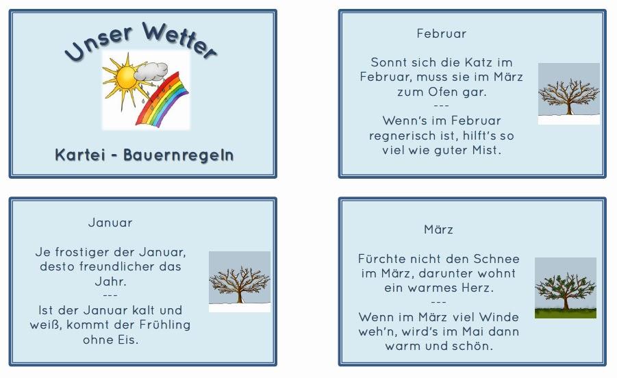 Bauernregeln Wetter