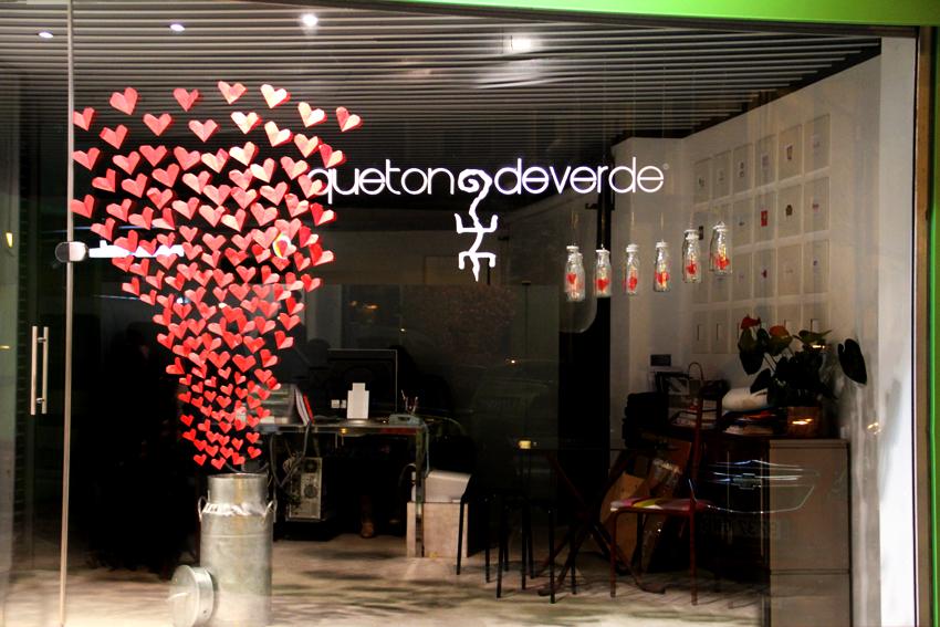 Muyameno decoración de tiendas para san valentín