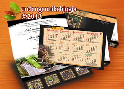 Undangan kalender soft cover lipat 3