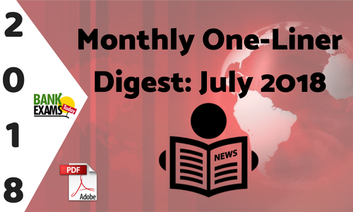 Monthly One-Liner Digest: July 2018