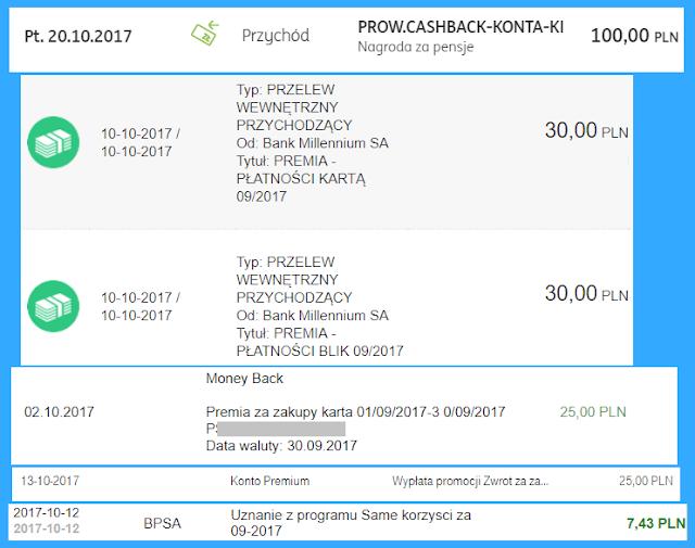 Moje zarabianie na bankach - podsumowanie września 2017 r.