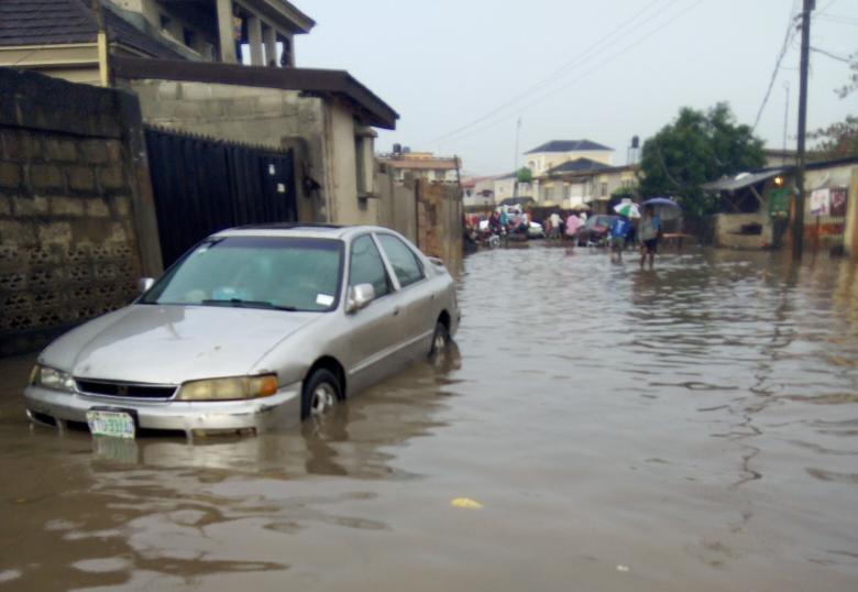 See the state of Odukoya Street in Bariga, Lagos after short rainfall
