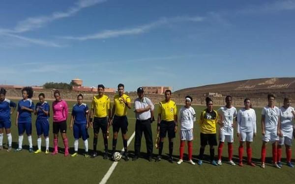 رجاء أيت إعزا لكرة القدم النسوية يتأهل الى ربع نهاية كأس العرش