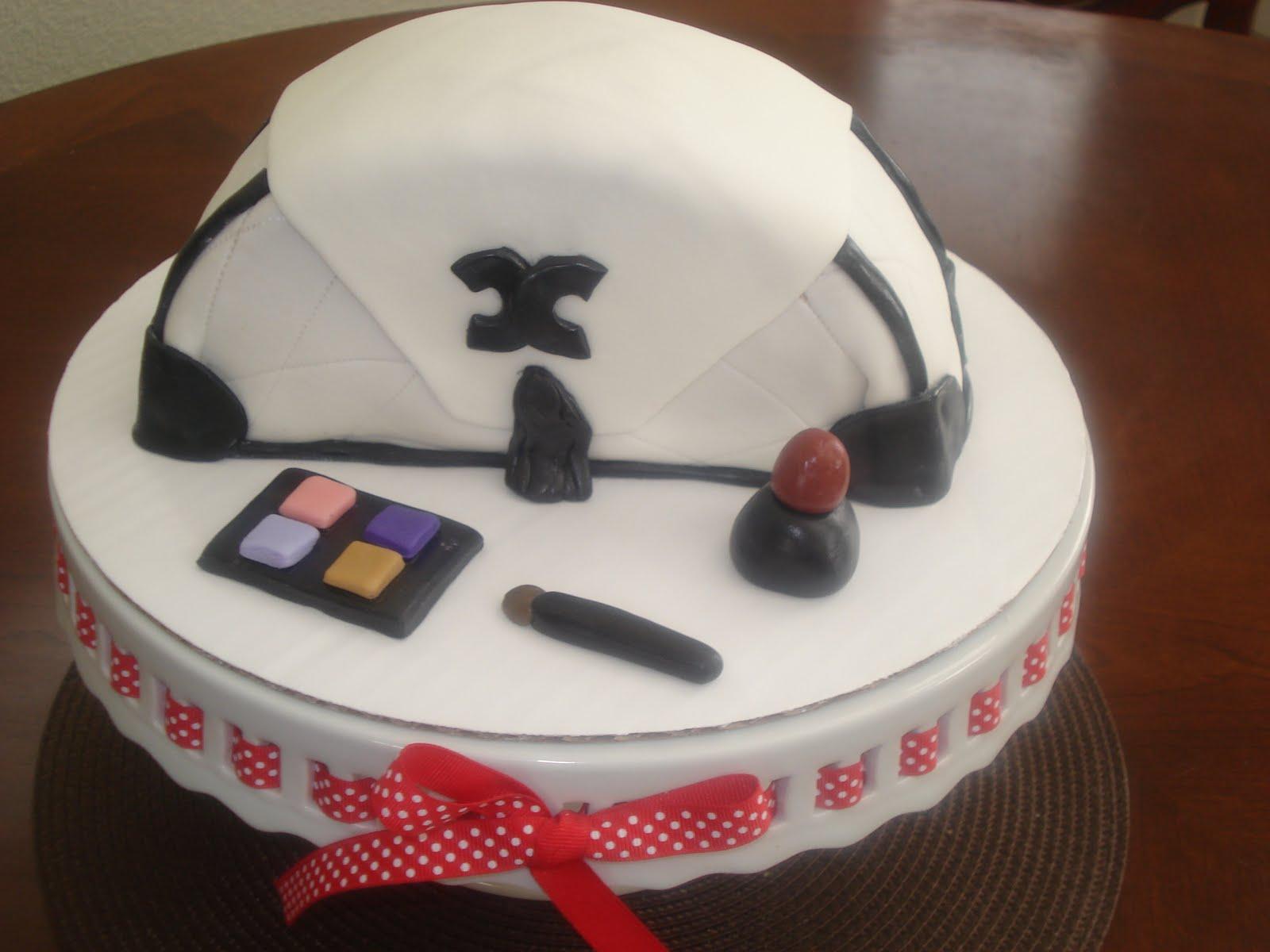 Gift Bag Fondant Topper Small Cake