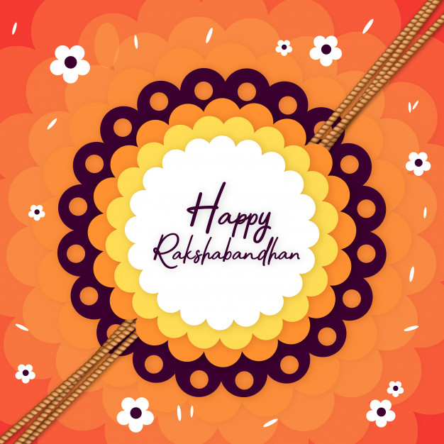 We're Hiring Log in Register Colorful Happy Rakshabandhan Background Poster Free Vector
