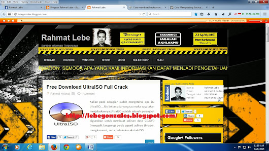 Cara Membuat Background Blog Menjadi Transparan ~ Legonz Games