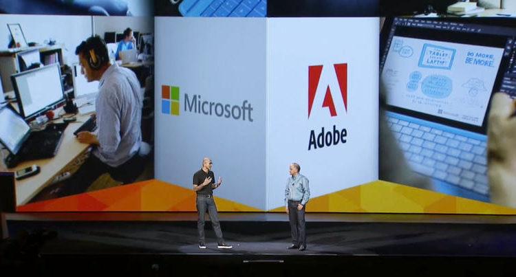 Kerjasama Microsoft dan Adobe kini Diperluas