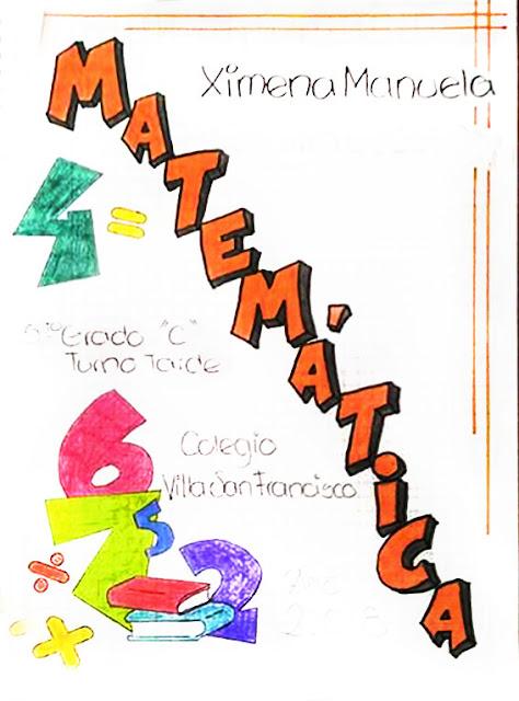 Caratulas de matematicas para secundaria