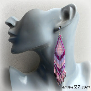 lavender-seed-bead-earrings beadwork beading jewelry