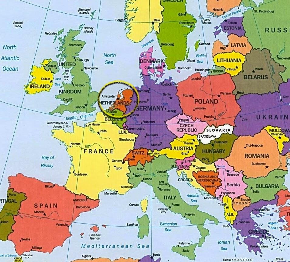 mapa mundo holanda Trabajando con personitas: ¿Dónde nació VAN GOGH? mapa mundo holanda