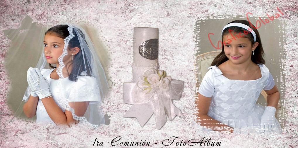 Plantillas psd para crear FotoAlbum 1ra comunión