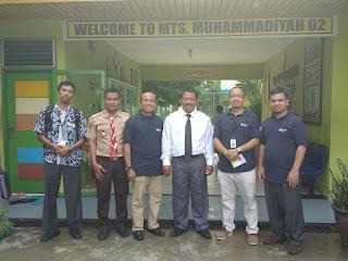 SMP JUARA PEKANBARU Benchmarking  KE MTs Muhammadiyah 2