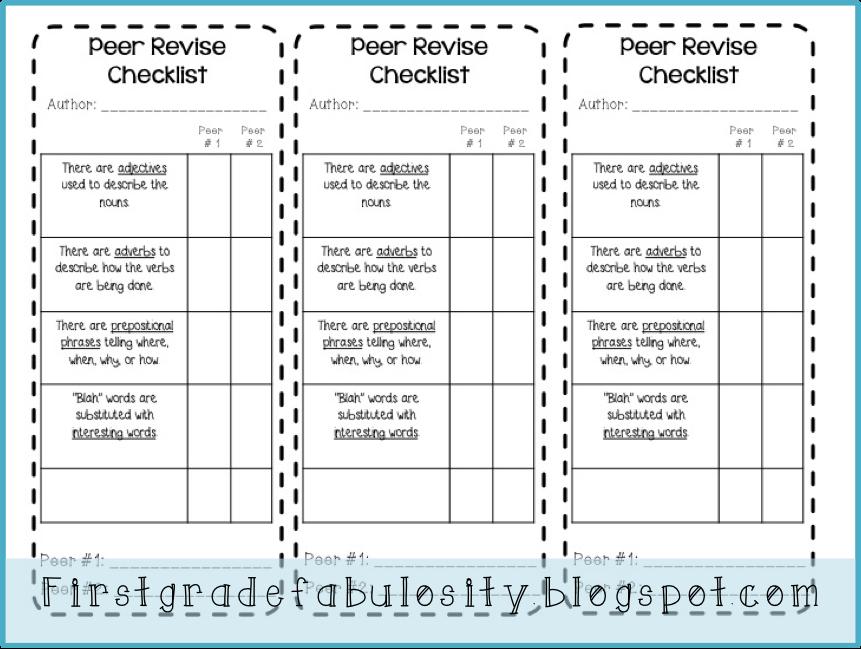 Peer editing essay checklist