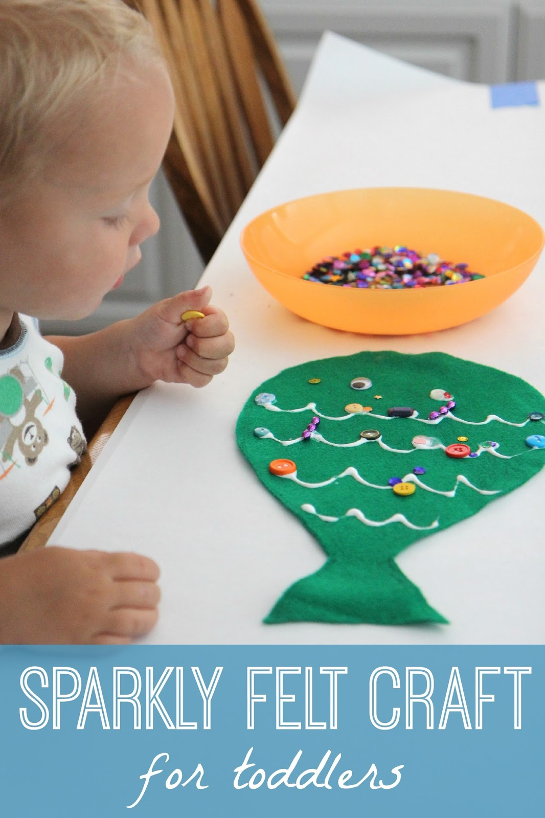 Toddler Approved Sparkly Felt Fish Craft For Toddlers