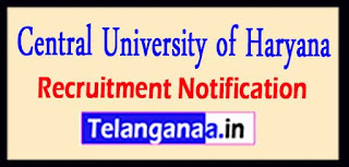 CUH Central University of Haryana Recruitment Notification 2017 Last Date 30-05-2017