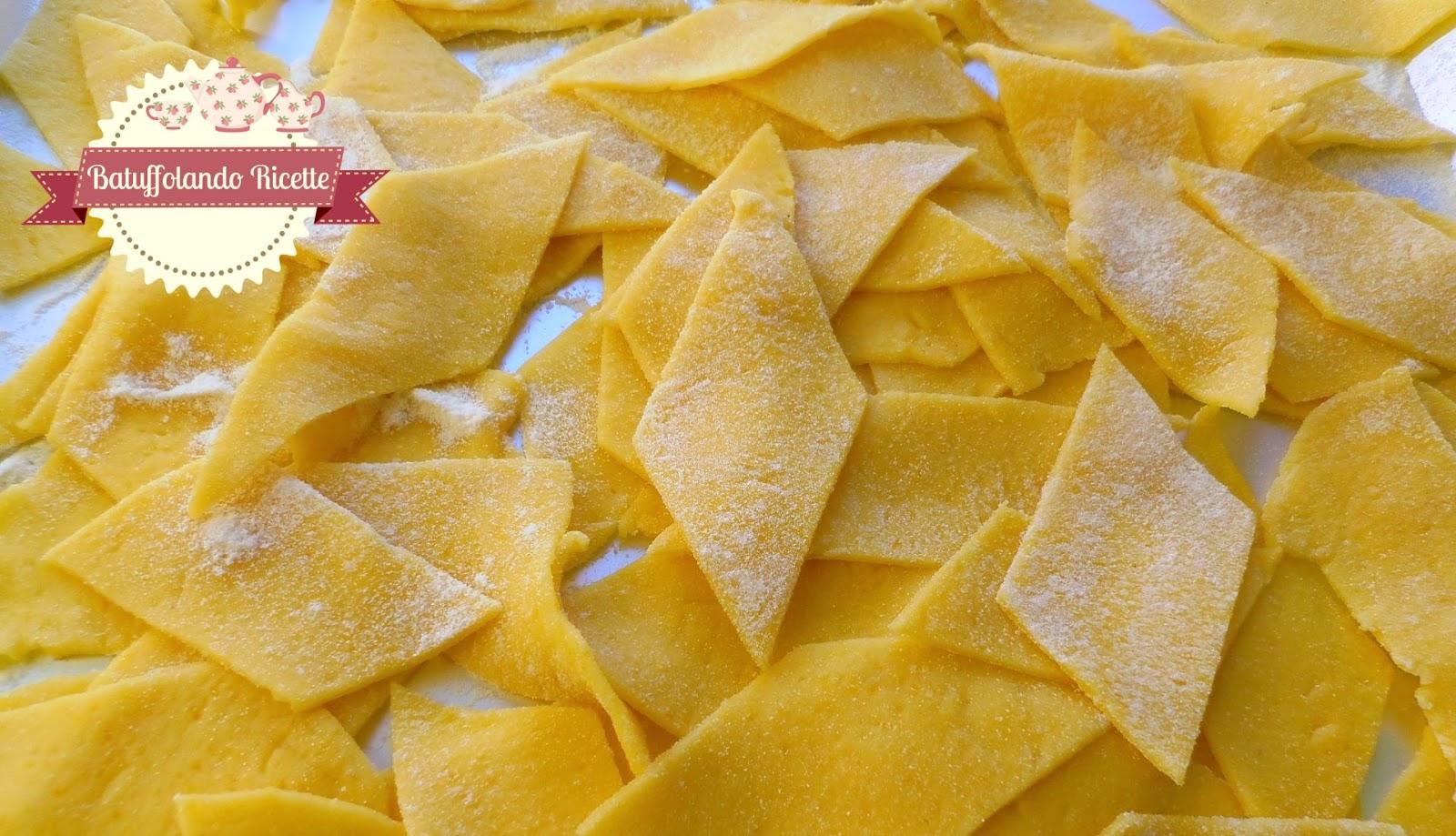 Ricetta pasta fatta in casa maltagliati