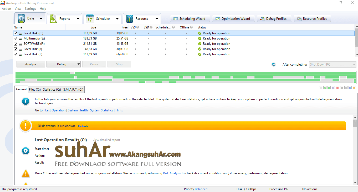 Gratis Download Auslogics Disk Defrag Professional Full Crack Terbaru