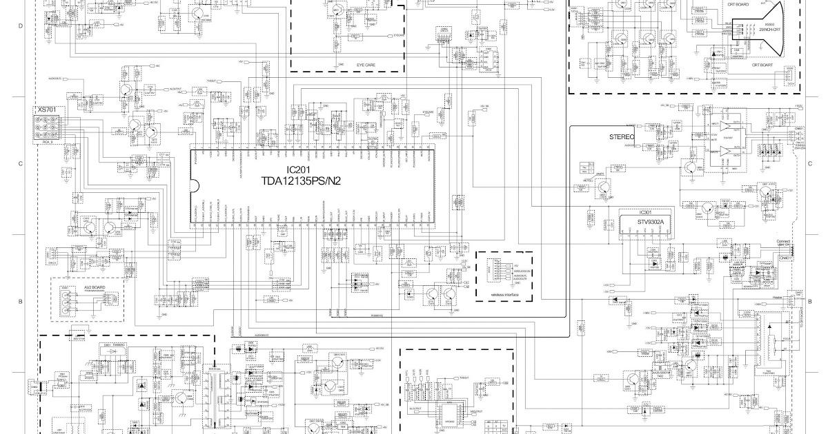 Electro Help  Videocon 21 Inch Ctvs Circuit Diagrams  U2013 Tda