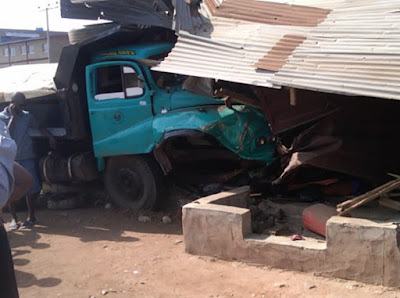 truck crushes woman ado ekiti