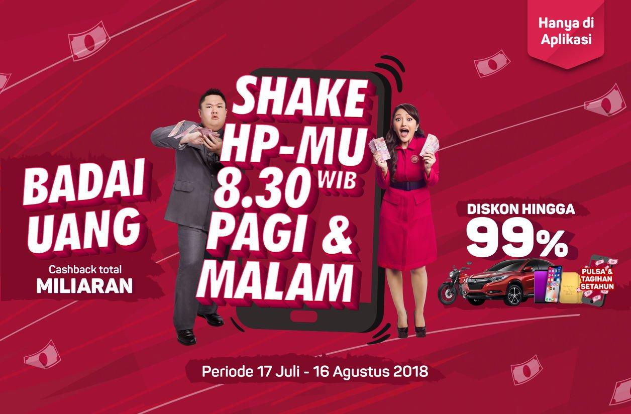 Bukalapak - Guncangan Badai Uang Cashback Milaran + Diskon s.d 99 % (s.d 28 Juli 2018)