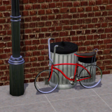 76 Totters Lane Clutter - Garbage Cans Bike Rack- Preview Image