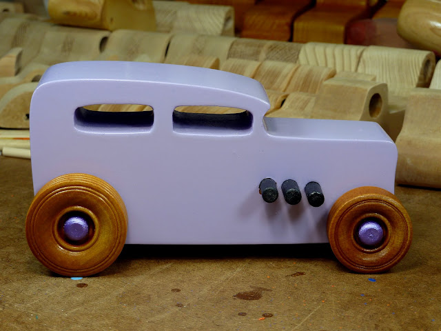Wooden Toy Car - Hot Rod Freaky Ford - 32 Sedan  Right Side