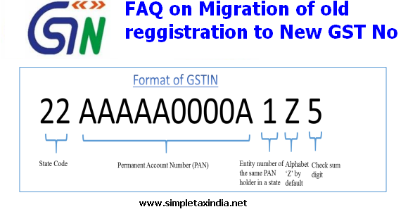 HOW TO MIGRATE YOUR OLD TIN-SERVICE-EXCISE NUMBER TO GST NUMBER   SIMPLE TAX INDIA