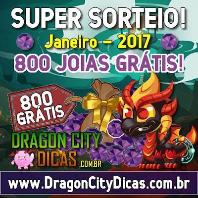 Super Sorteio de 800 Joias Grátis - Janeiro 2017