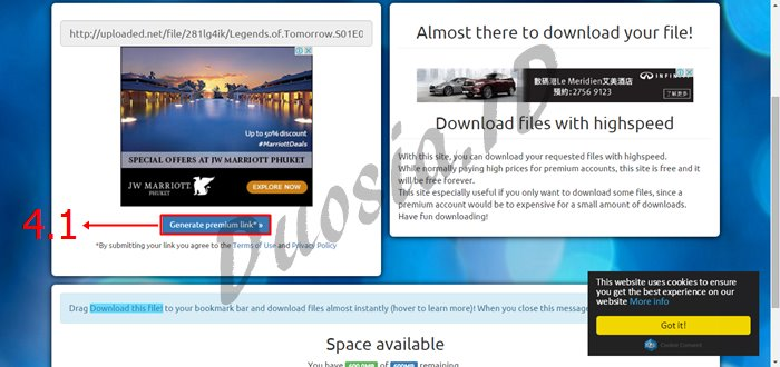 Cara Download di Uploaded.net Full Speed dan Tanpa Menunggu menggunakan uploaded-premium-link-generator.com Langkah ke 4