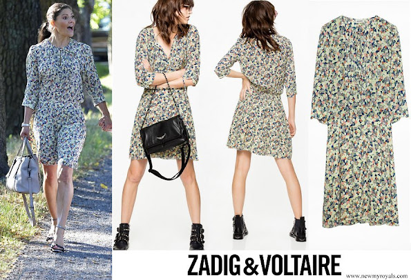 Crown Princess Victoria wore Zadig & Voltaire Remus flower dress