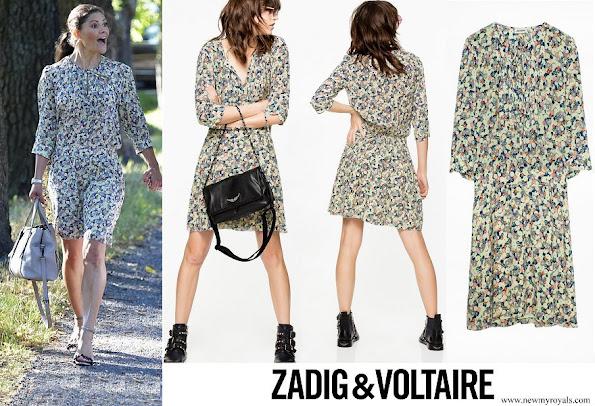 Crown Princess Victoria wore Zadig & Voltaire Remus flower dress