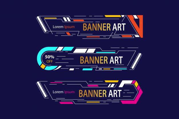 Banner art banner artwork frame Free Vector