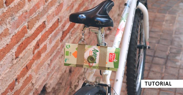 Bolsa para el sillín de tu bici con un brick