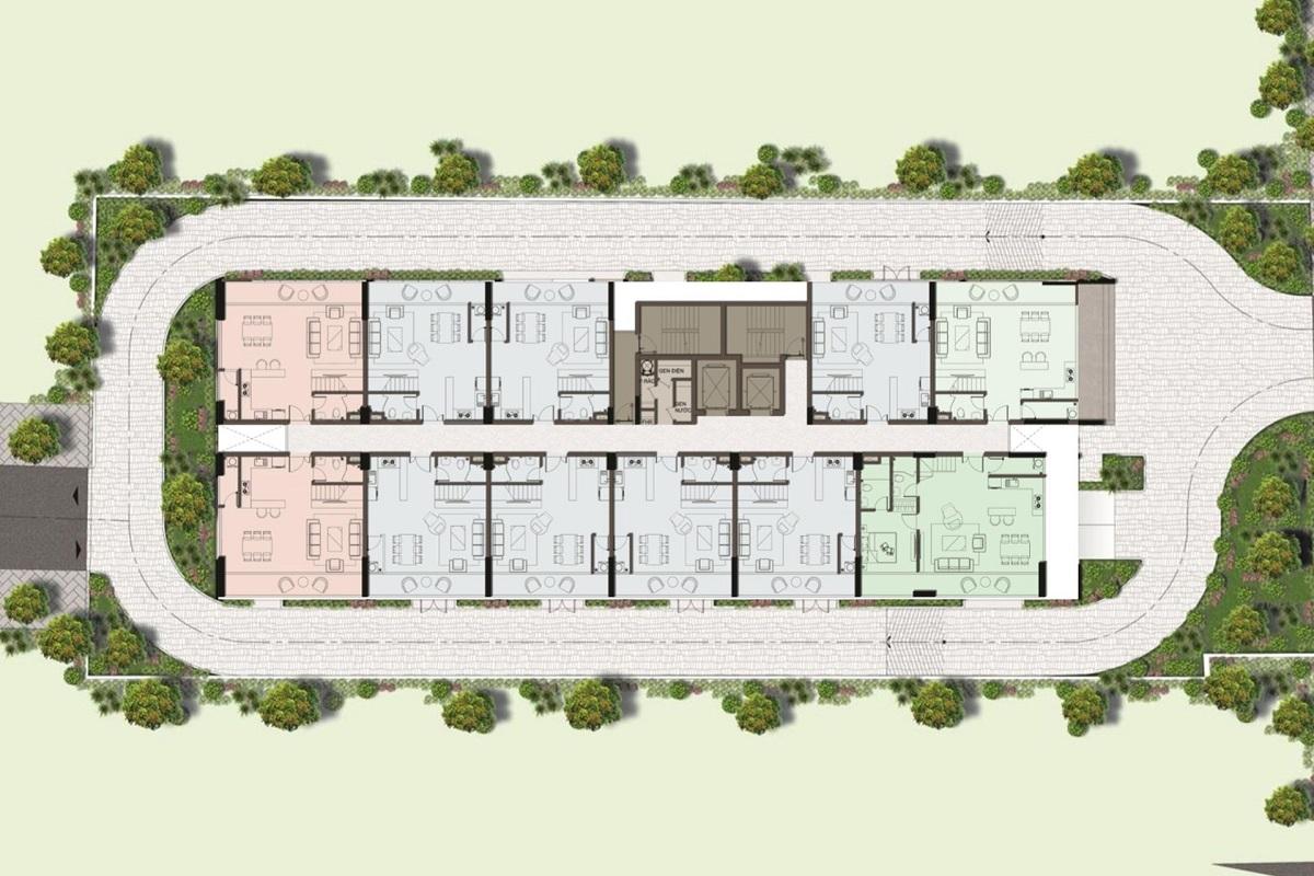 Mặt bằng tầng 3 - 13 dự án Harina View