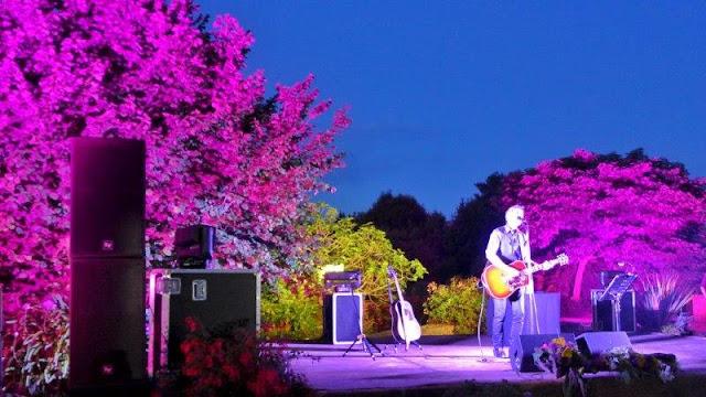 Concierto de Mikel Erentxun en los Íntimos del Jardín Botánico Atlántico de Gijón la noche del 8 de julio del 2016