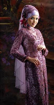 Gaun Pengantin Cantik Warna Ungu