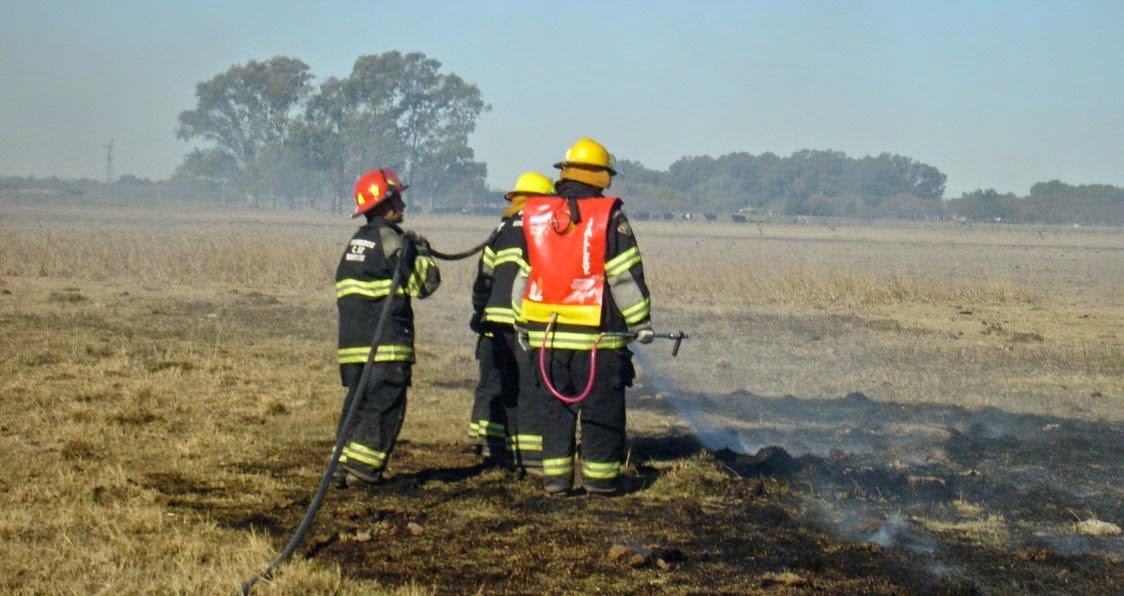 Incendio en un prado