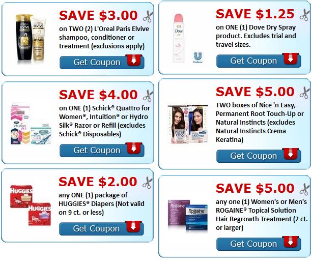 Today's new printable coupons