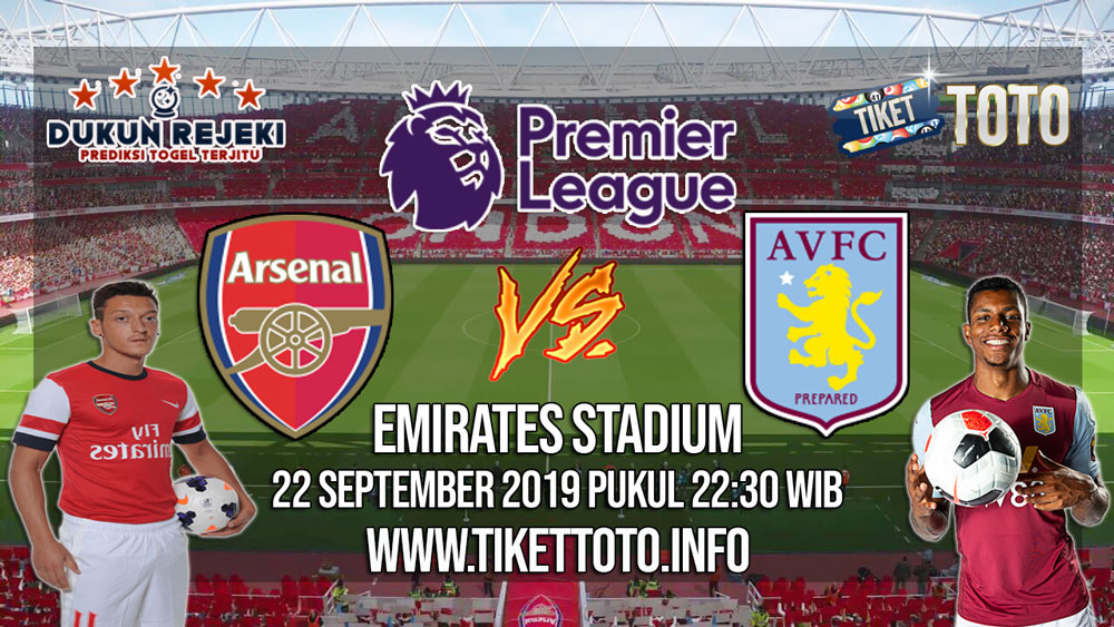 Prediksi Arsenal VS Aston Villa 22 September 2019