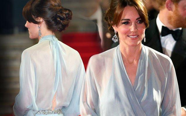 Kate Middleton Hadir Tanpa Bra di Premiere Film James Bond