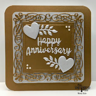 Our Daily Bread Designs Custom Dies:Flourishy Frame, Celebration Words, Bitty Blossoms, Ornate Hearts