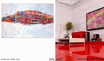 Große Bilder, moderne Kunst, junge Malerei und abstrakte Gemälde zuhause und im Büro!